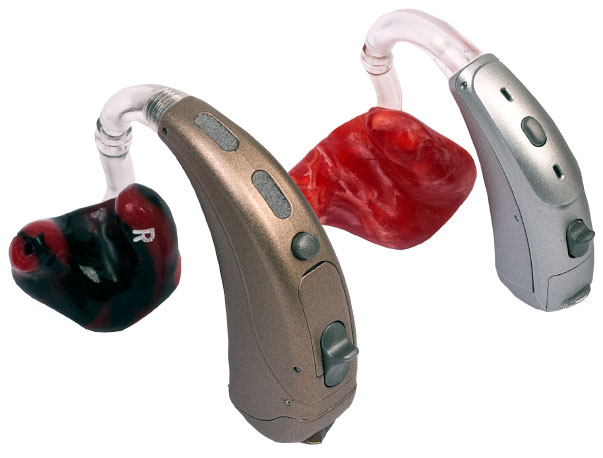 Behind-the-ear hearing aid and earmolds