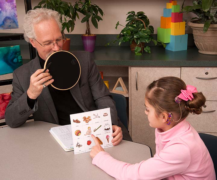 Functional auditory skills testing with child with cochlear implant