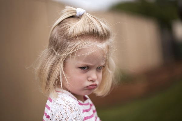 Toddler pouting
